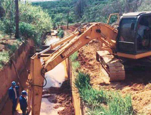 Collem executa as obras de infraestrutura nos canais de drenagem do Aeroporto de Confins em BH