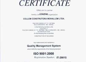 collem Collem Construtora 20101214114954 ft Certif ISO 9001 2000 gde 281x202
