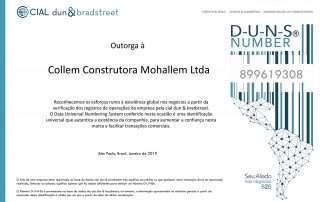 collem Collem Construtora Certificado Duns Number Collem Construtora Mohallem Ltda 1 320x202