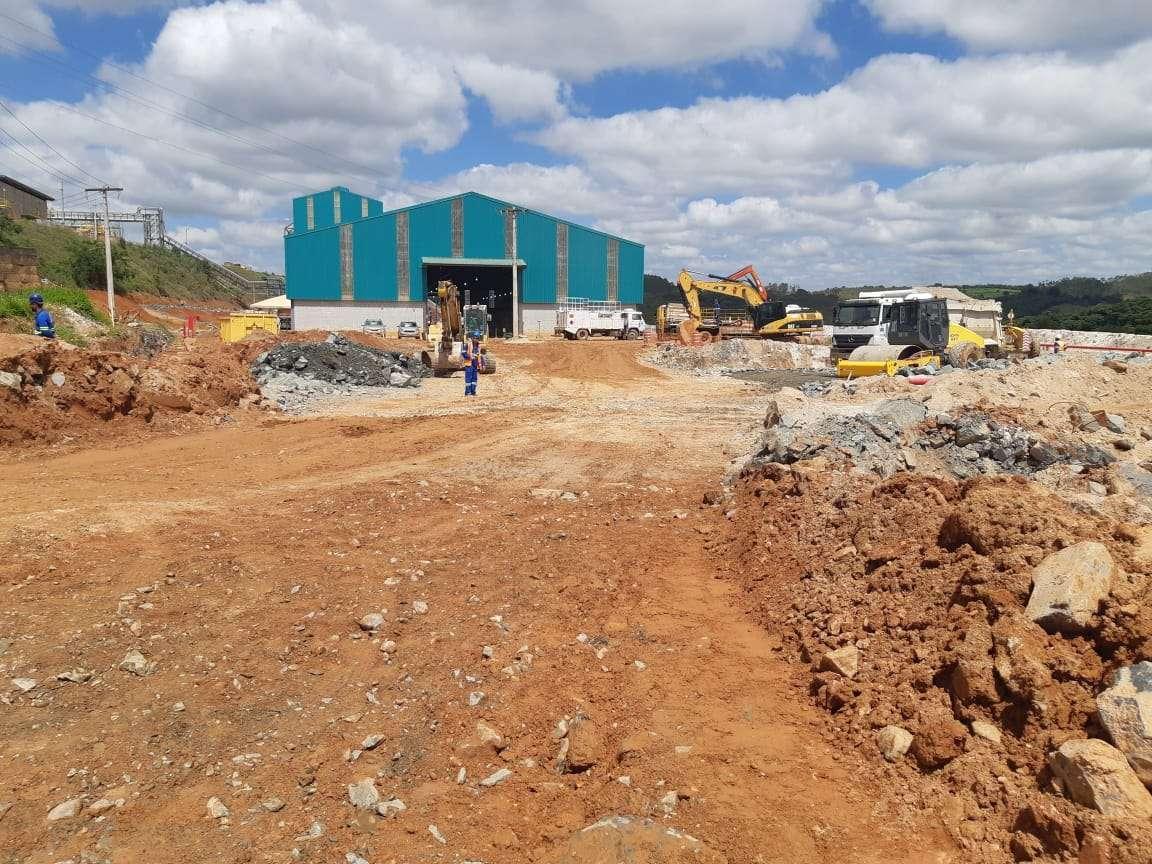 Antes collem A Collem está concluindo as obras de infraestrutura na planta da AMG Mineração Antes3