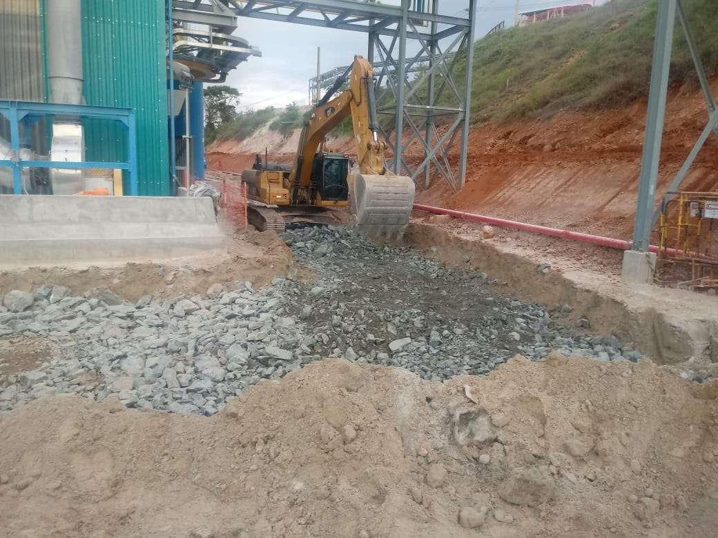 Antes collem A Collem está concluindo as obras de infraestrutura na planta da AMG Mineração antes1