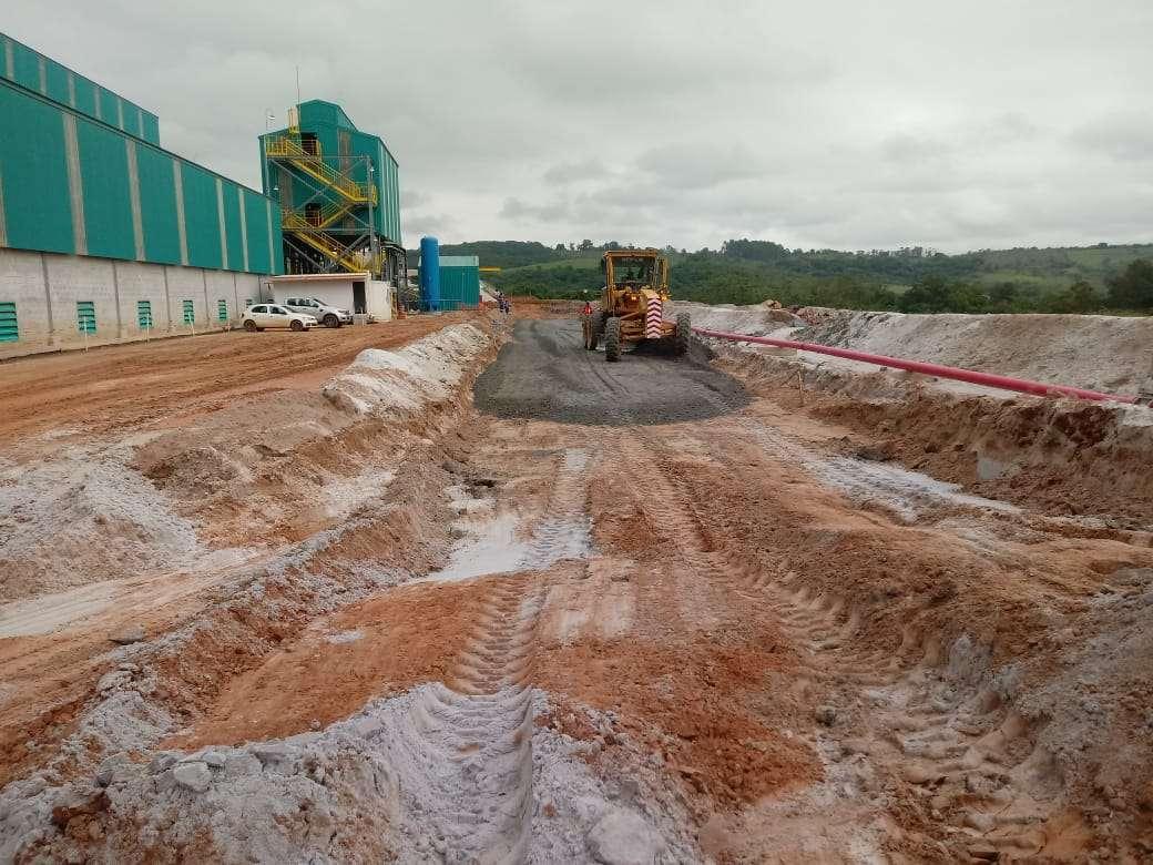 Antes collem A Collem está concluindo as obras de infraestrutura na planta da AMG Mineração antes2