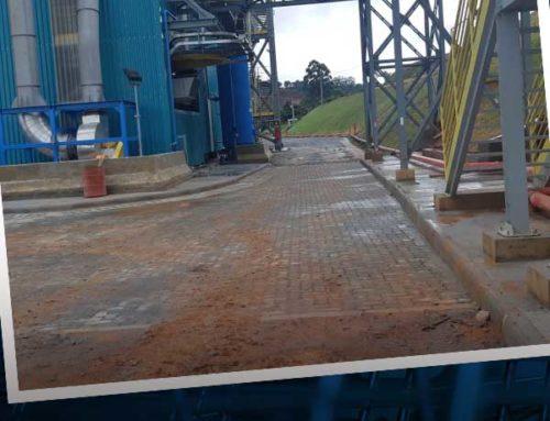 A Collem está concluindo as obras de infraestrutura na planta da AMG Mineração