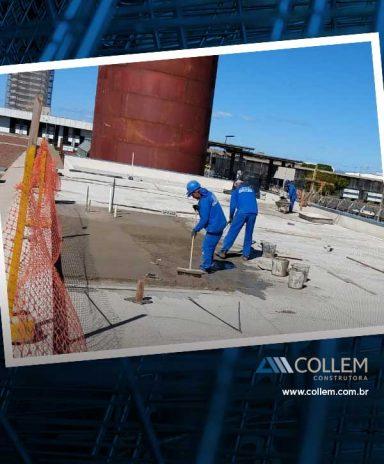 obras de infraestrutura Construtora Collem Collem As obras da Central de agua Gelada 384x464