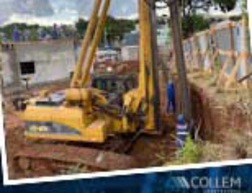 A Collem inicia CONTENÇÕES em obras do SHOPPING na região da Pampulha