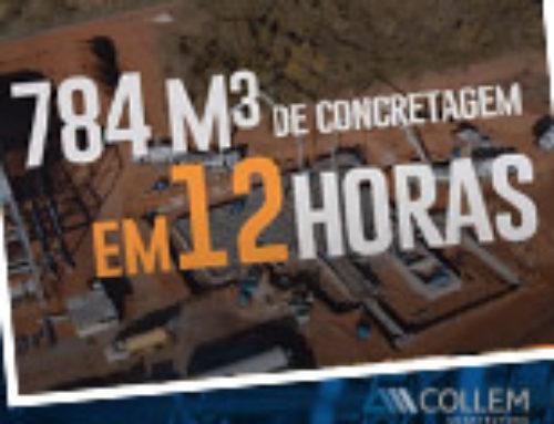 Collem realiza 768 m3 em concretagem ininterrupta em fábrica da Fassa Bortolo