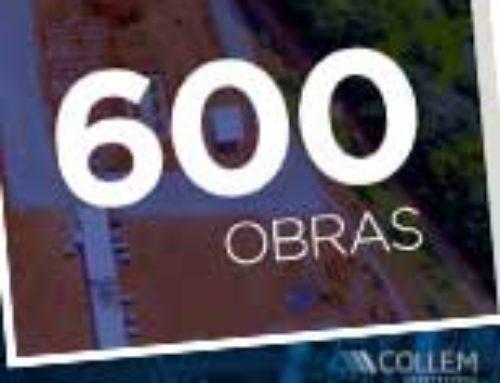 A Collem tem orgulho de chegar à obra número 600 e ter cumprido cada um de seus compromissos