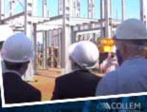 Collem e Fassa receberam autoridades na obra de implantação da fábrica em Matozinhos.