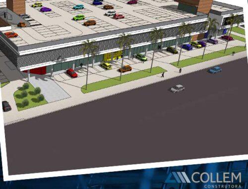 Construção de centro comercial